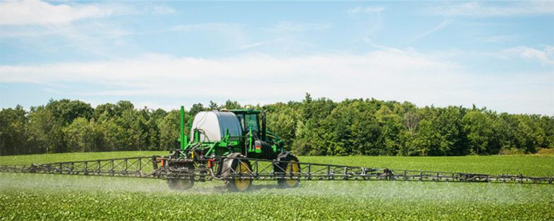 Spraying field