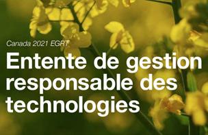 Entente de gestion responsable des technologies